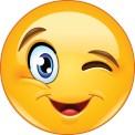 Winking face emoticon