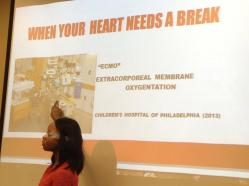 Cardiac Nurse talks about taking care of the heart over lunch