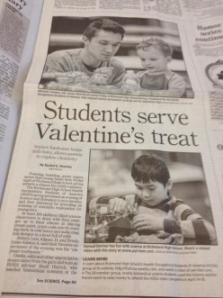 The local newspaper wrote up a nice piece about the event and took lots of great pics