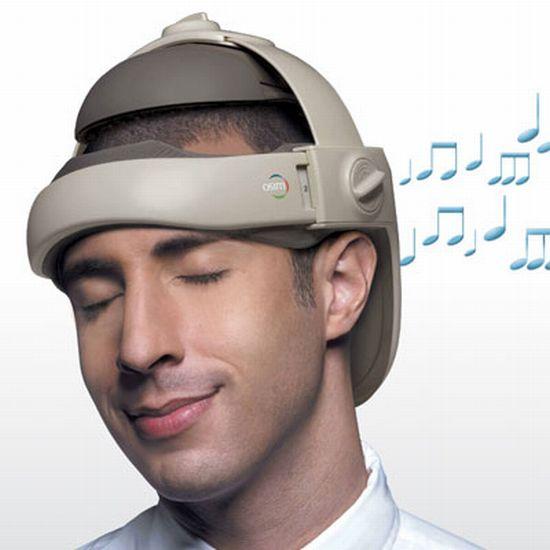 Head massaging hat certifies your dorkiness