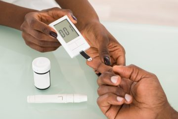 African-American getting tested for diabetes