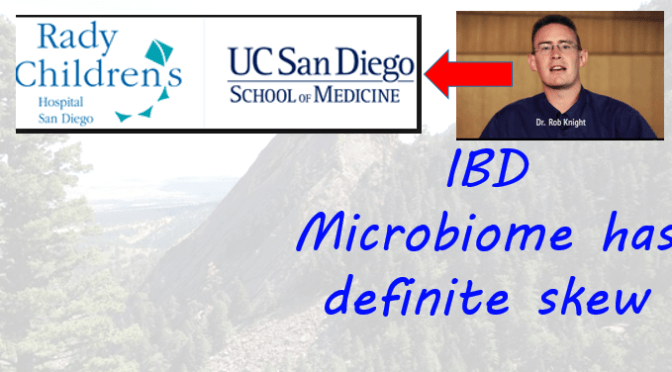 Dr. Rob Knight updates: IBD microbiome skew & San Diego move