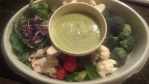 Avocado Dressing, Dip, or Driizzle over Chicken Lettuce Onion Wrap Appetizer