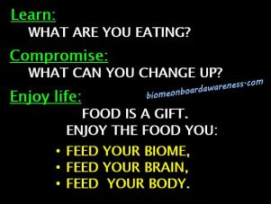 Learn, Compromise, Enjoy Life_Food is a gift.