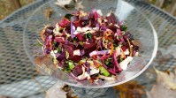 Roasted Beets, Cabbage, and Kale