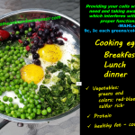 Cooked Eggs with phytonutrients_greens, colors and sulfur rich