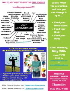 REVISED DATE, PITTSBURGH MICROBIOME AWARENESS SEMINAR, May 26, 2016