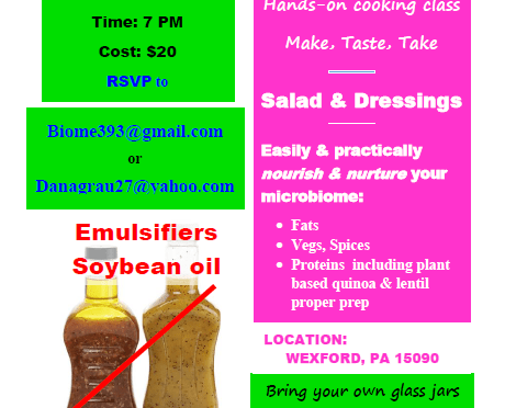 Salad and Dressings WorkShop, microbiome focused