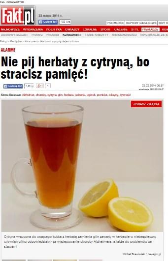 Czy Herbata Z Cytryną Jest Szkodliwa Czyli Jak Nam Robią Wodę Z