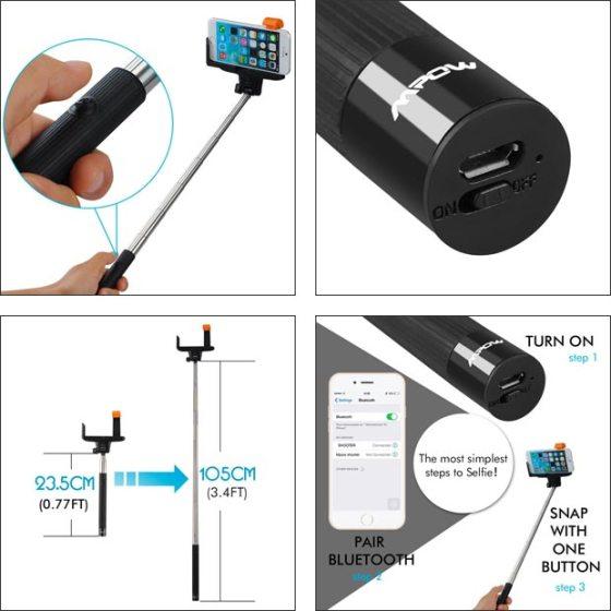 iSnap Pro, Self-portrait, Monopod, Extendable, Selfie Stick