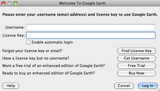 Google License Key