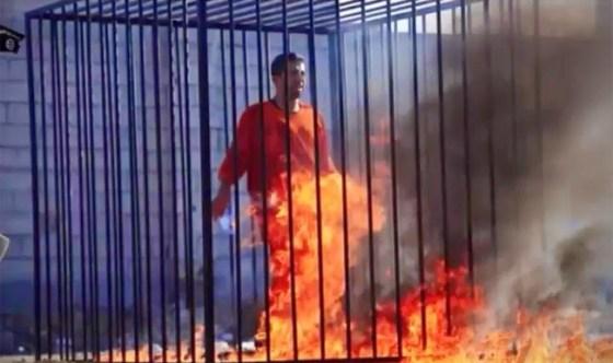Jordanian pilot - Burned Alive