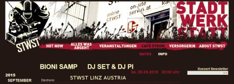 Bioni Samp DJ set at STWST, Linz, Austria 2015