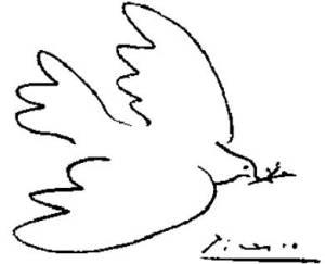 Голуби мира и любви Пабло Пикассо