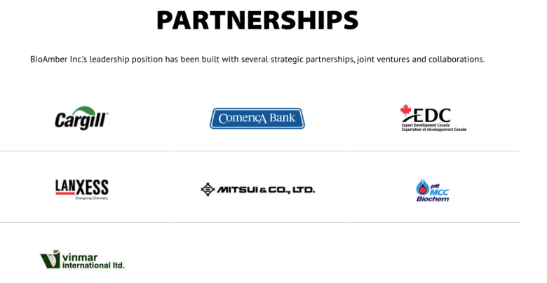 BioAmber Partnerships