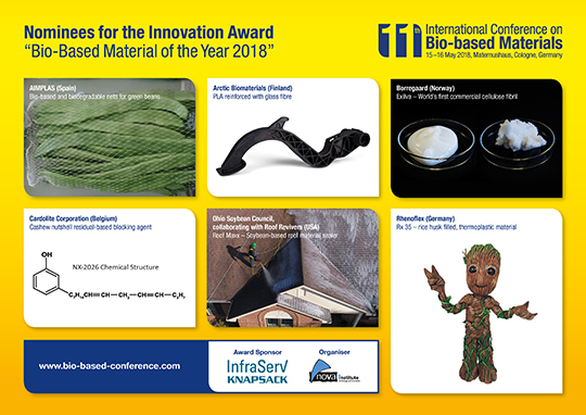 Innovation award 2018 biobased material