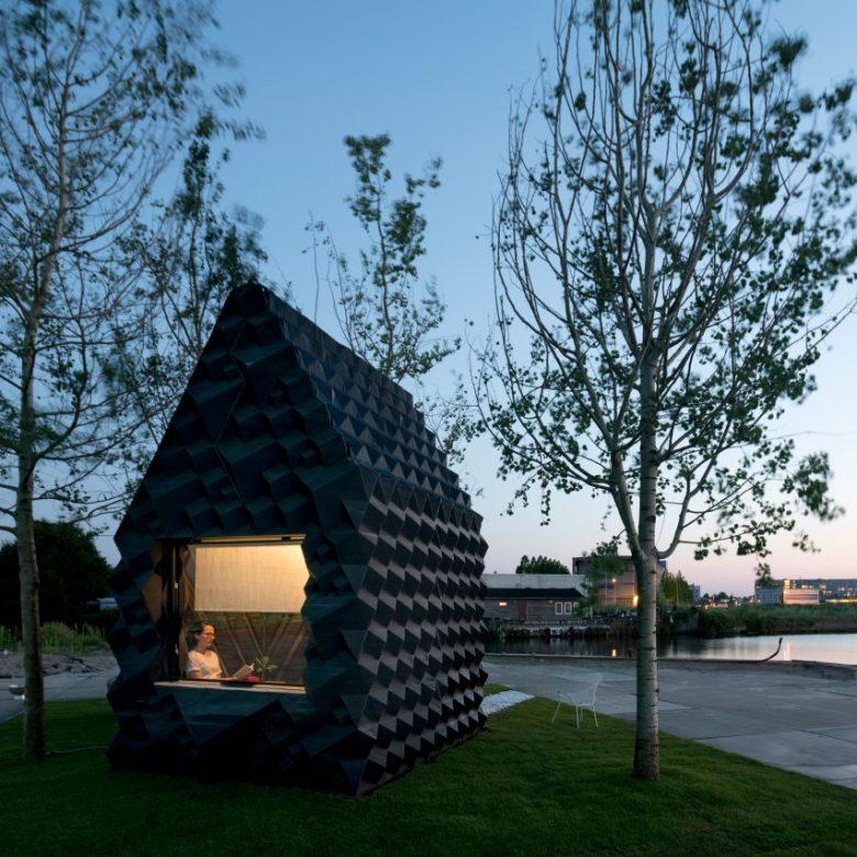 3D printed house bioplastics