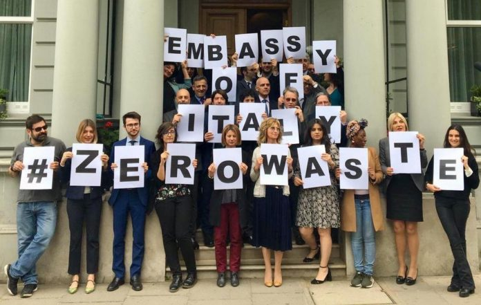 novamont zero waste italian embassy