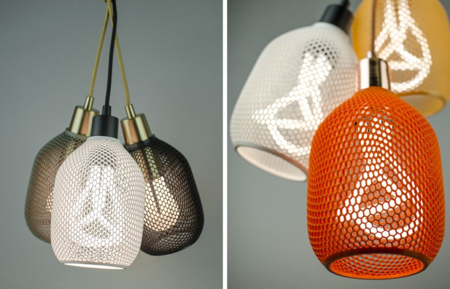 3d Printed Lamp Shades Made From Pla, Copper Mesh Lamp Shade