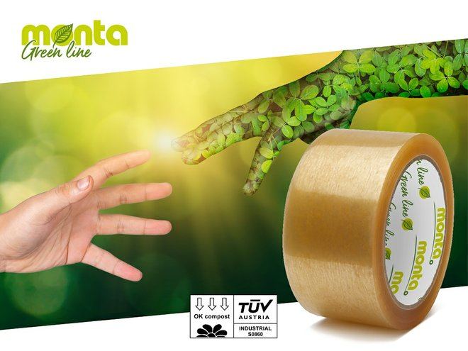 Monta compostable adhesives tapes