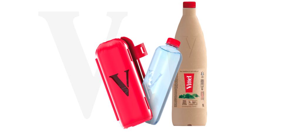 vittel paper bottle