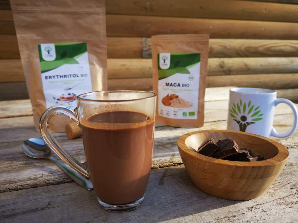 Chocolat chaud maca cannelle