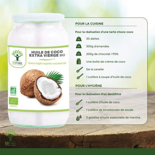 Utilisation huile de coco bio