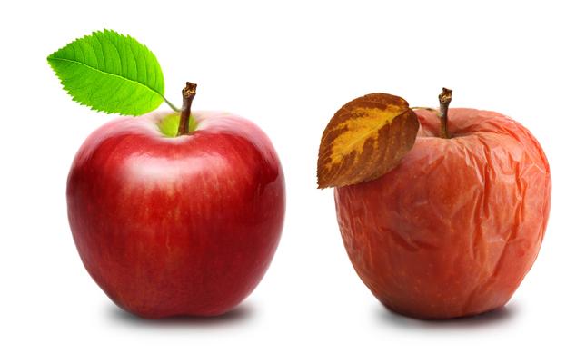 2.239 Dérider une pomme flétrie