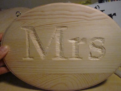 carving letters in wood