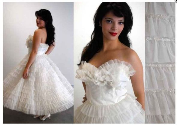 Ruffle Ball Gown Vintage Style Dress… HELP