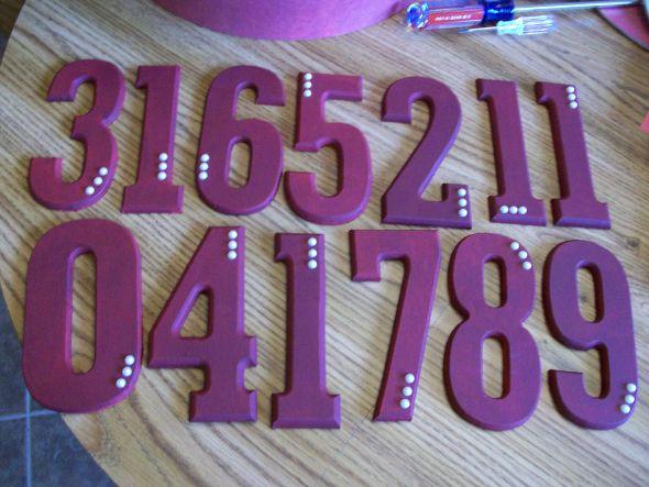 Wooden Table Numbers :  wedding diy table numbers 100 0876