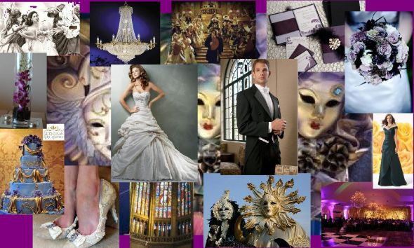 Masquerade Wedding - First Inspiration Board! :  wedding Inspiration Board 01
