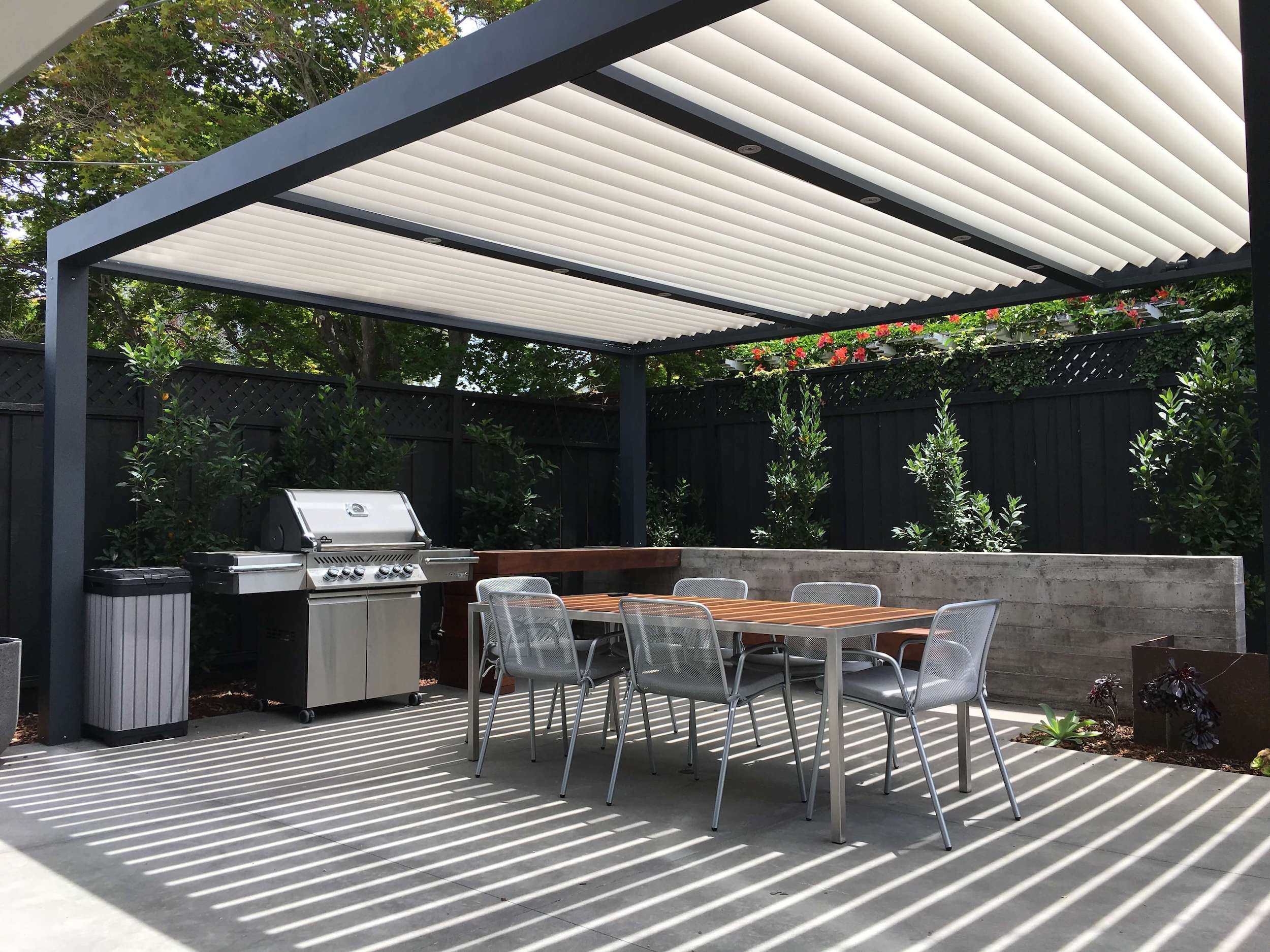 patio cover peaceful outdoor dining