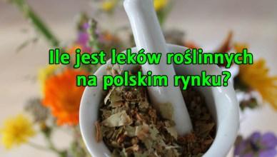 Ile jest leków roślinnych na polskim rynku?