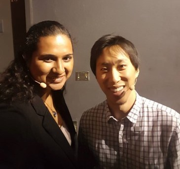 Sandhya with Andrew Chang from Lumo Bodytech @ RISE