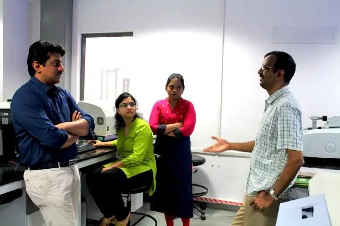 Research team at Jawaharlal Nehru Centre for Advanced Scientific Research (JNCASR), Bangalore.