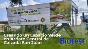 Creando un Espacio Verde en Arriate Central de Calzada San Juan