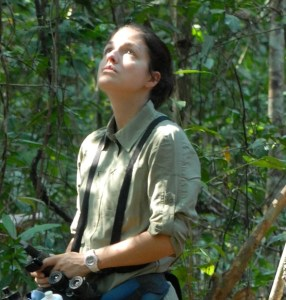 Dr. Alison Behie in the field (photo: Dr. Ben Rawson)