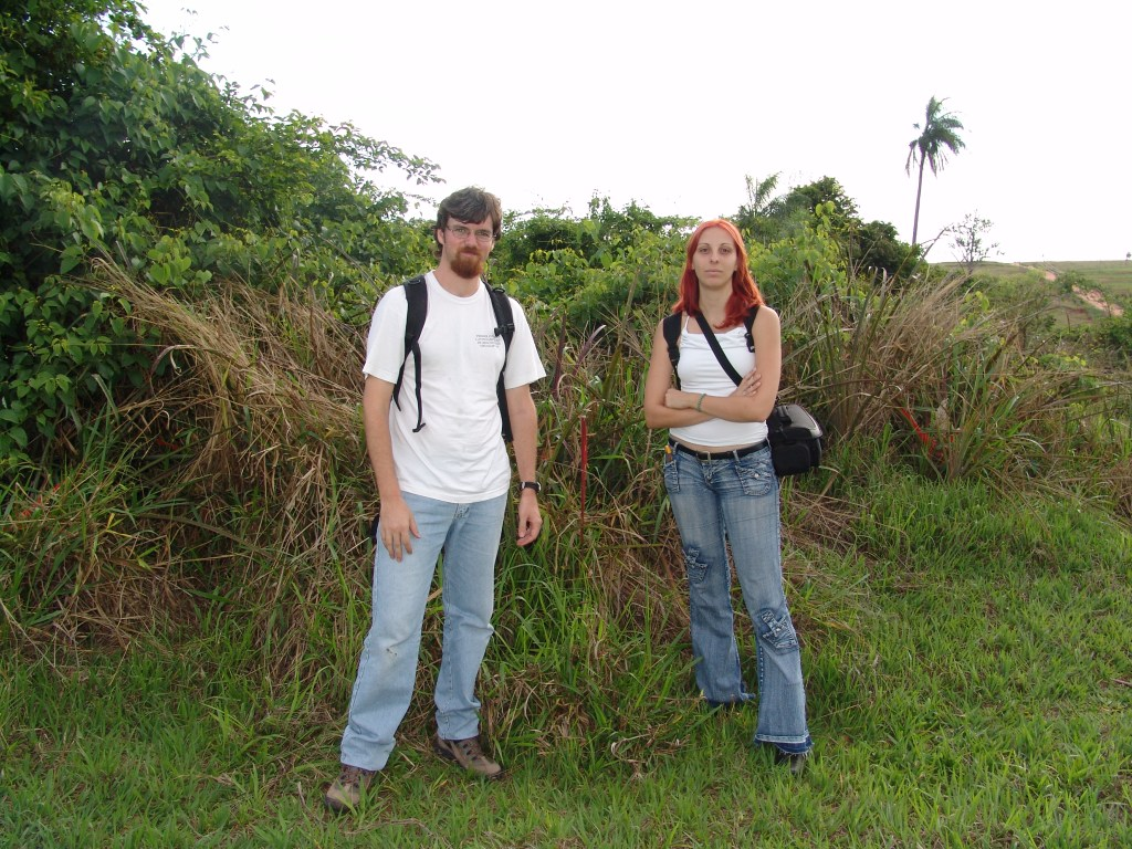 Figure 1. Dr. Gustavo Q. Romero and MSc. Ana Z. Gonçalves in the field (photo credit: Dr. Gustavo Romero).