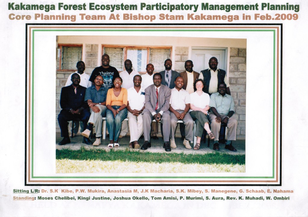 Core planning: The team having been responsible for advancing the Kakamega Forest Ecosystem Management Plan, Photo by unknown)