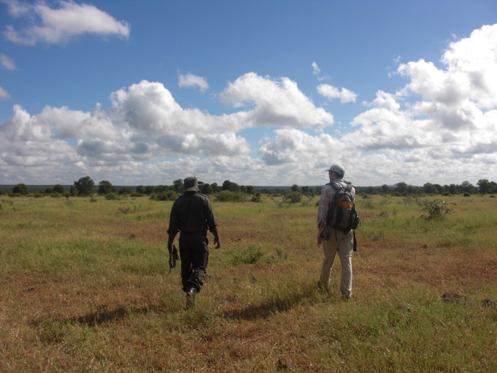 Photo 3: Garrett Arnold (right) and Annoit Mashele (left) in Kruger NP. Photo credit: Alexandria Bacca.