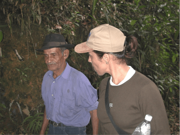 Inara Leal with Eleno José de Araújo († June 2006). In memoriam to 'Senhor Heleno' - the region's foremost native naturalist, herbalist, wise man and ardent supporter of our research.