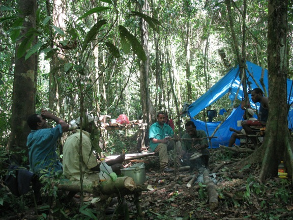 Field camp in the Wanang Conservation Area, Papua New Guinea