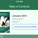 Read @Biotropica on you iPhone or iPad...our new app is live!