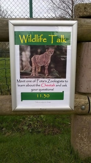 That's me! These signs are scattered all over the park where one of us will carry out a 15 minute talk about our animals