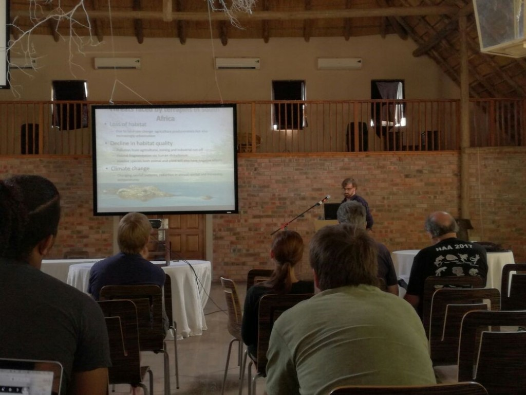 Presenting to the HAA conference on my own ongoing research into the spatial ecology population and conservation genetics of terrapins in Ndumo Game Reserve.