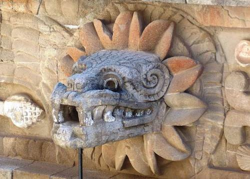 Fig2. Feathered Serpent Image at the Temple of Quetzalcoatl at Teotihuacan