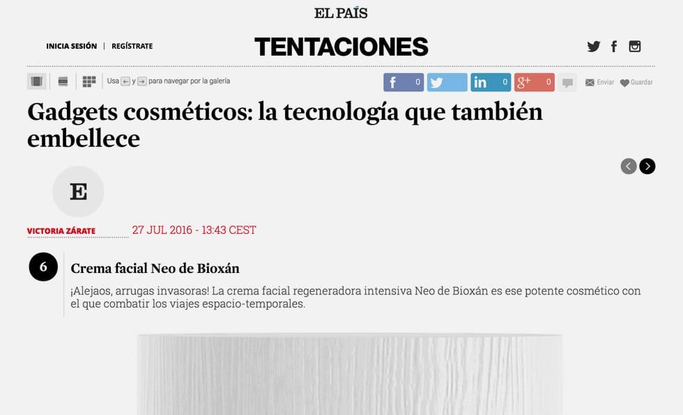 Portada Tentaciones El País