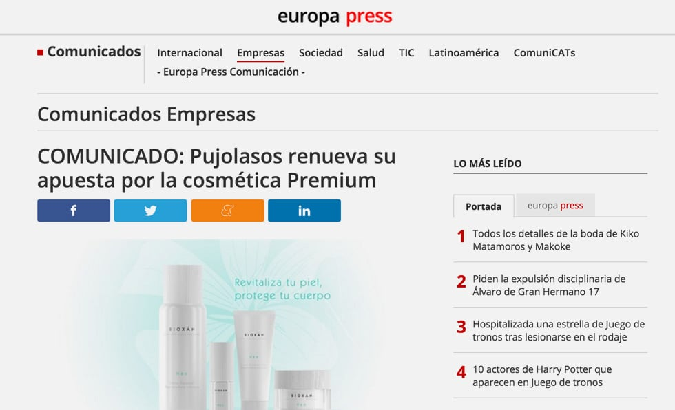 Portada Europa Press