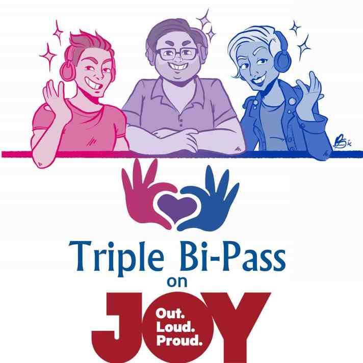 triple bi pass on joy podcast cover art